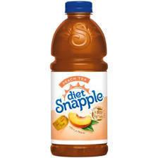 Snapple 32 oz - Diet Peach Tea - Case of 12