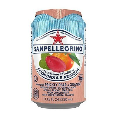 San Pellegrino 24/11.15 oz can Prickly Pear & Orange