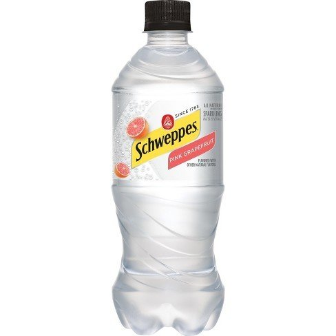 Schweppes Pink Grapefruit Seltzer - 20 oz - Case of 24