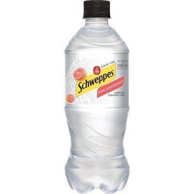 Schweppes Pink Grapefruit Seltzer - 20 oz - Case of 24
