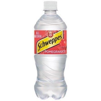 Schweppes Pomegranate Seltzer - 20 oz - Case of 24