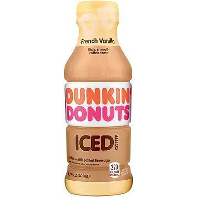 Dunkin Donuts French Vanilla Iced Coffee 12/13.7 oz bottles