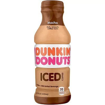 Dunkin Donuts Mocha Iced Coffee 12/13.7 oz bottles