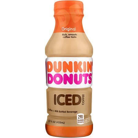 Dunkin Donuts Original Iced Coffee 12/13.7 oz bottles