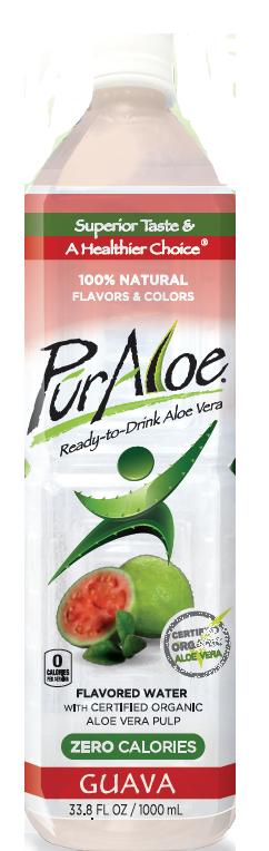 Pur Aloe Water Zero Calorie Guava 12/1 liter