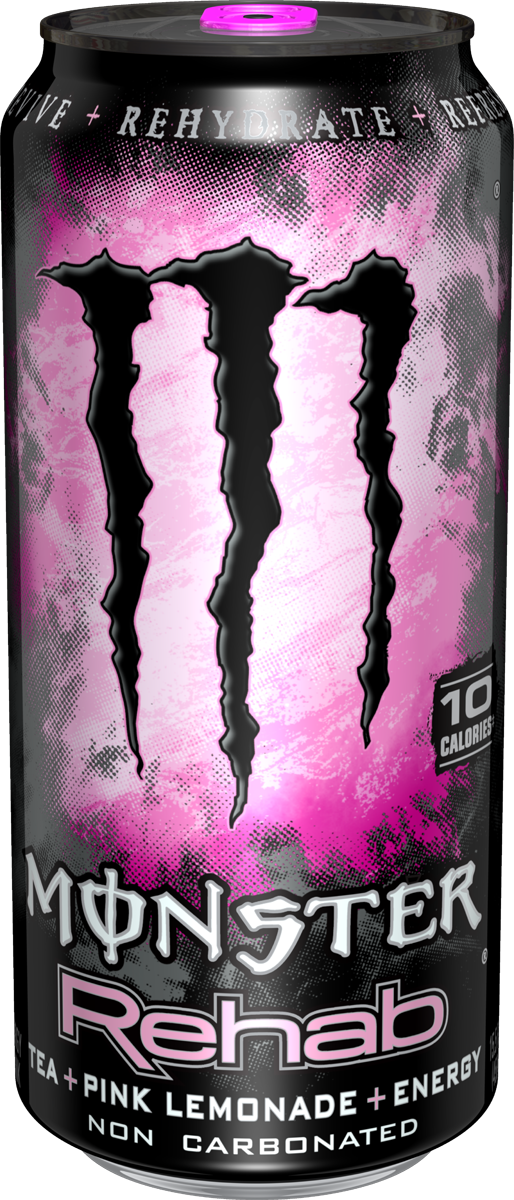 Monster Energy Rehab Pink 16 oz - Case of 24
