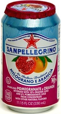 San Pellegrino 24/11.15 oz can Melograno E Arancia (Pomegranate)