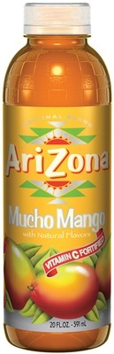 Arizona 20 oz Plastic Bottles Mango - Case of 24