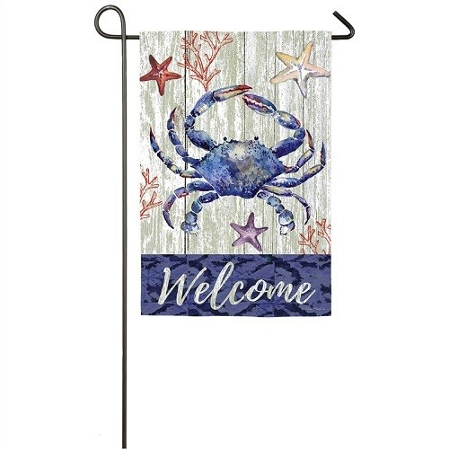 Garden Flags - Welcome Crab