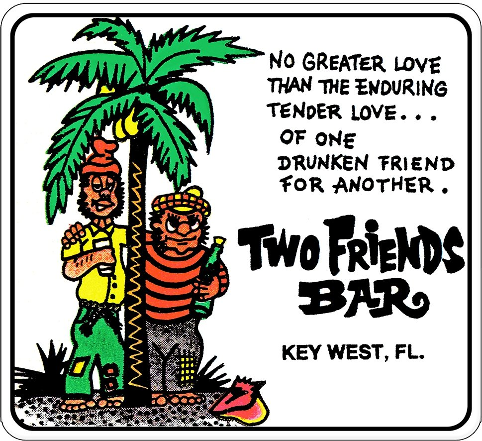 "2 FRIENDS BAR  * 8"" x  8"""