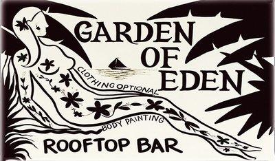 GARDEN OF EDEN TATOO * 6'' x 11''