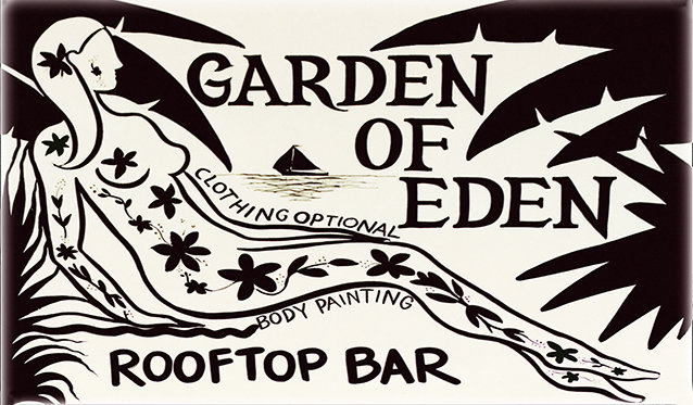 GARDEN OF EDEN TATOO * 6'' x 11''
