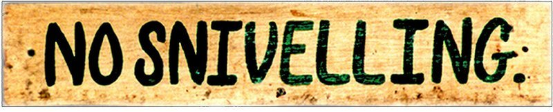 NO SNIVELLING * 2'' x 16''