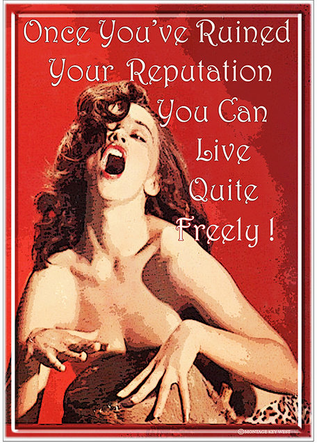 ONCE YOU'VE RUINED YOU REPUTATION * 7'' x 11'' 10063
