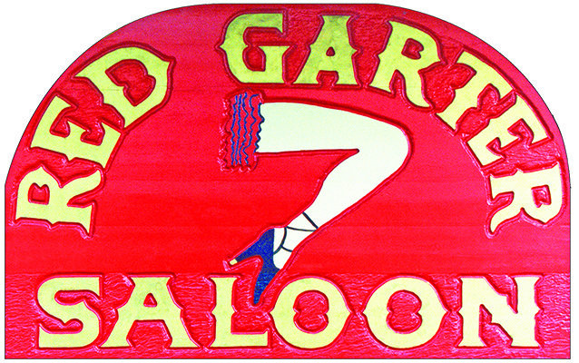 RED GARTER SALOON * 8'' x 11'' 10066