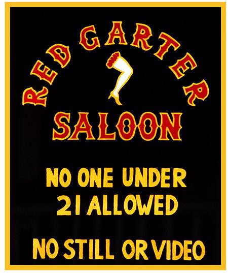 RED GARTER SALOON 21 * 8'' x 11'' 10067
