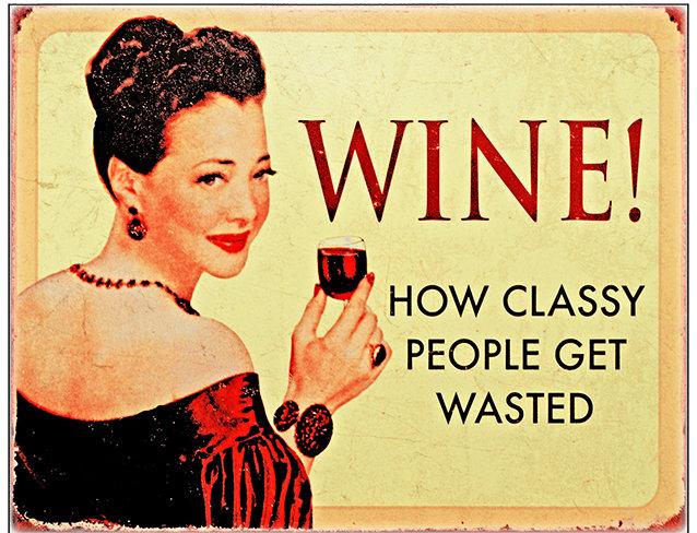 WINE CLASSY PEOPLE * 8'' x 11''
