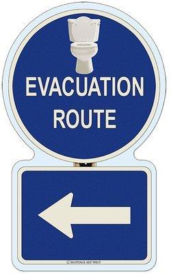 EVACUATION LEFT BATHROOM * 7'' X 11''