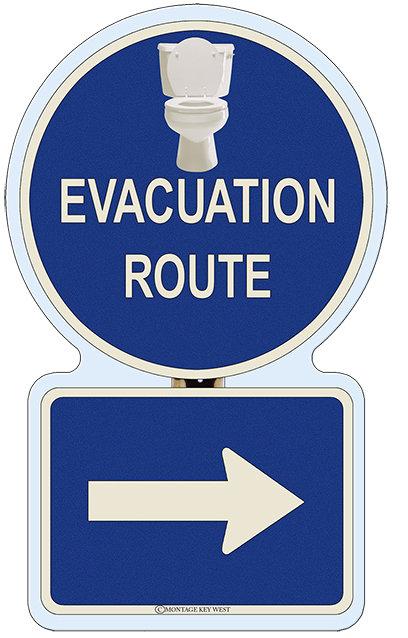 EVACUATION RIGHT BATHROOM * 7'' x 11'' 10106