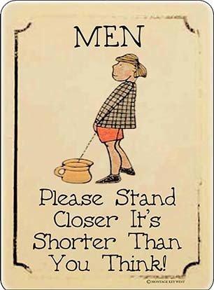 MEN STAND CLOSER * 6'' x 9''