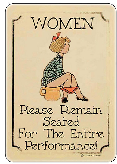 WOMEN REMAIN SEATED * 6'' x 9''