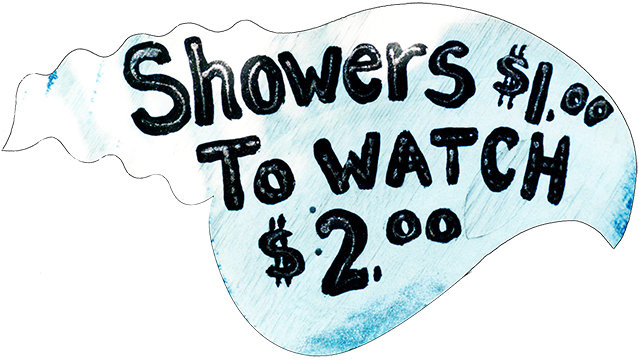 SHOWERS $1.00 TO WATCH * 6'' x 11'' 10117