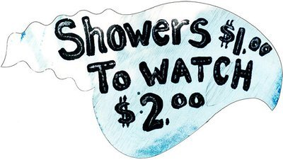 SHOWERS $1.00 TO WATCH * 6'' x 11''