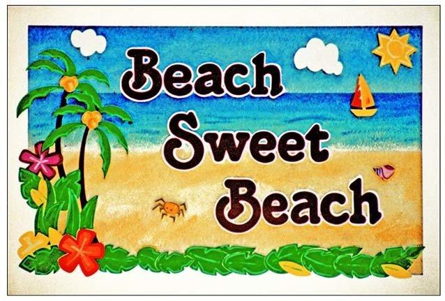 BEACH SWEET BEACH * 7'' x 11'' 10118