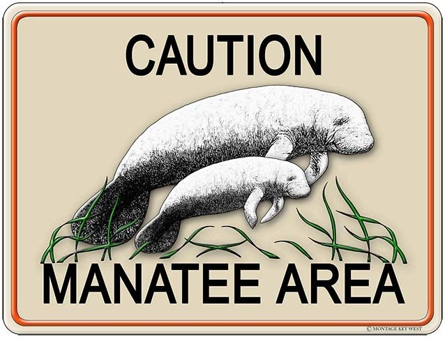 CAUTION MANATEE AREA * 8'' x 11'' 10120