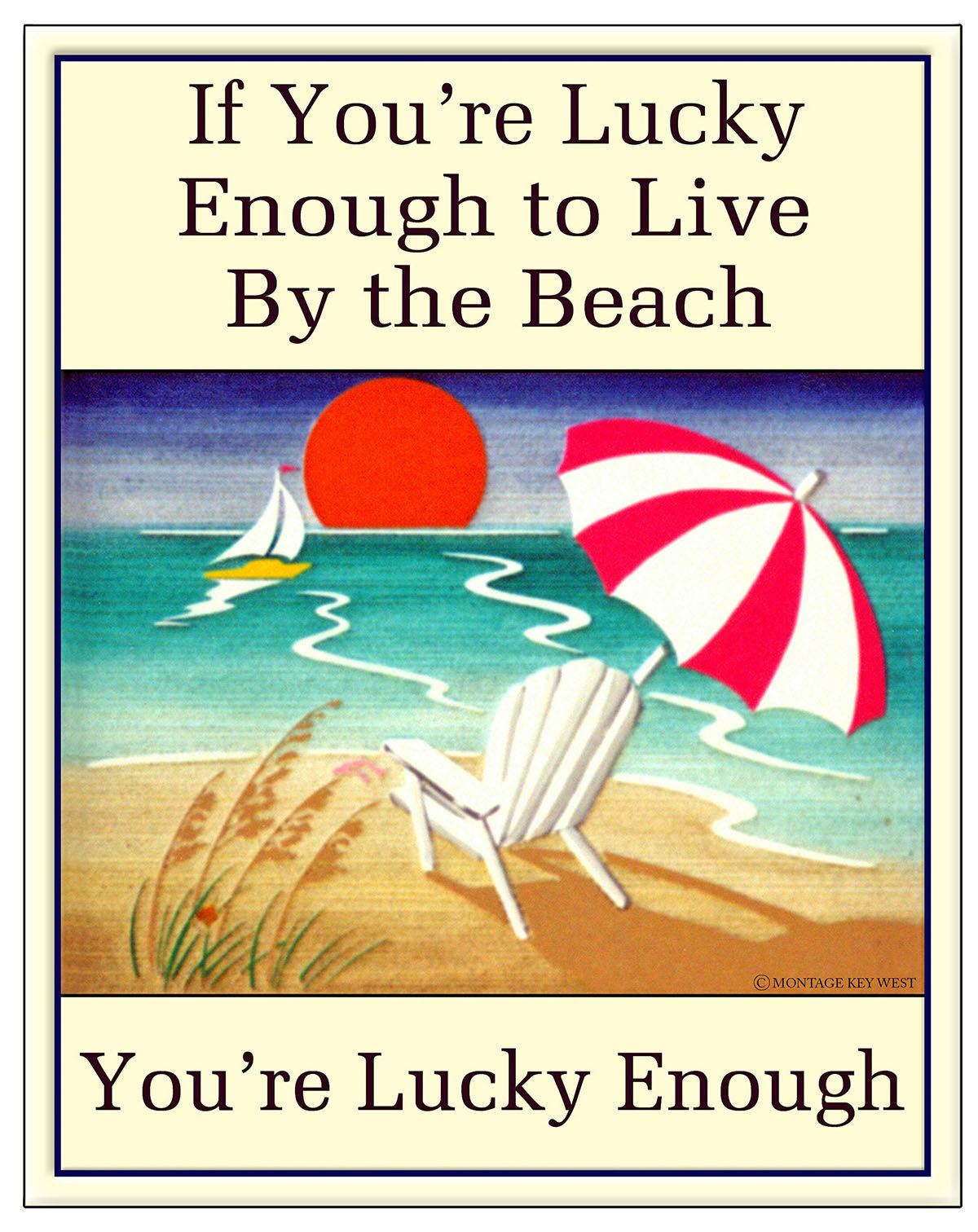 LUCKY ENOUGH BEACH * 7'' x 11'' 10125