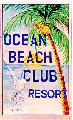 OCEAN BEACH CLUB * 6'' x 11''