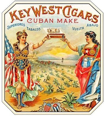 KEY WEST CIGARS CUBAN MAKE * 8'' x 9''