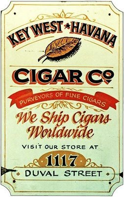 KEY WEST HAVANA CIGAR CO. * 7'' x 11''
