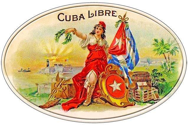CUBA LIBRE CIGARS * 7'' x 11''