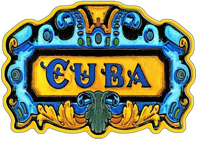 CUBA ART TILE * 7'' x 11'' 10178
