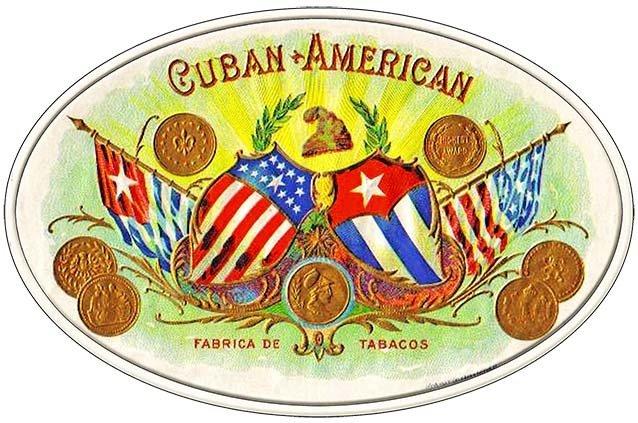 CUBAN AMERICAN CIGARS * 7'' x 11'' 10179