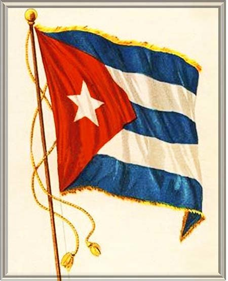 CUBAN FLAG WAVING * 7'' x 11'' 10181
