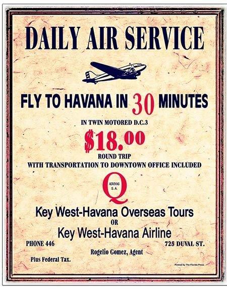 DAILY AIR SERVICE TO HAVANA * 8'' x 11'' 10183