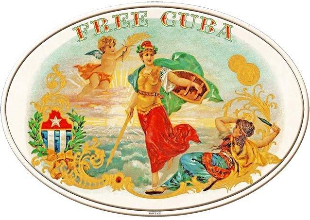 FREE CUBA CIGARS * 7'' x 11''