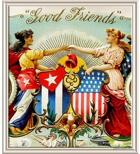 GOOD FRIENDS USA CUBA * 8'' x 9'' 10187