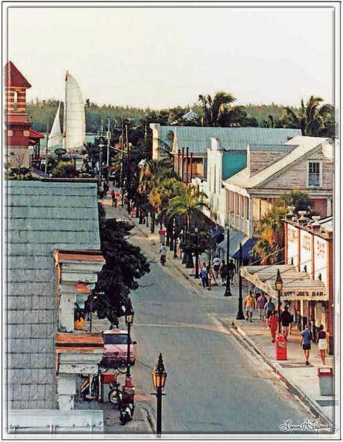 LOWER DUVAL ROOFTOP VIEW * 8'' x 11''