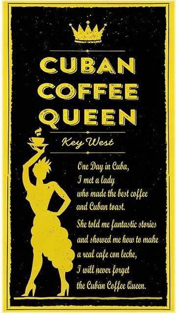 CUBAN COFFEE QUEEN * 5'' x 11''
