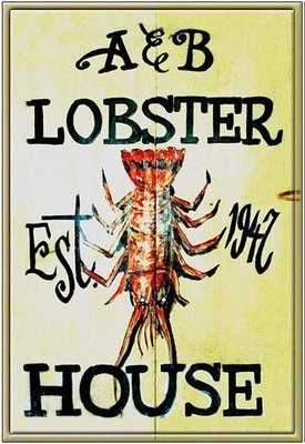 A&B LOBSTER HOUSE 1947 * 7'' x 11''
