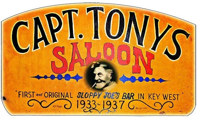 CAPT. TONY'S ORIGINAL SIGN * 6'' x 11'' 10375
