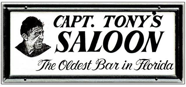 CAPT. TONY'S OLDEST BAR * 4'' x 11'' 10376