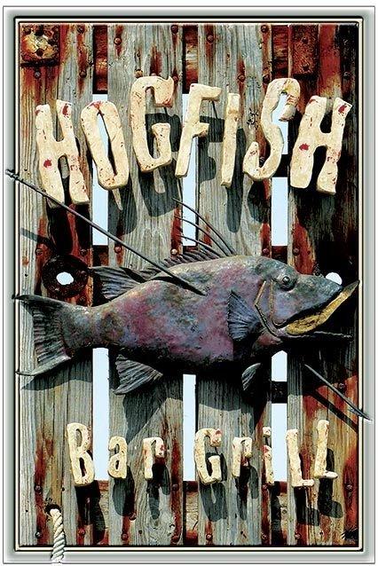 HOGFISH BAR & GRILL * 6'' x 11''