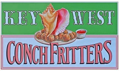 KEY WEST CONCH FRITTERS * 5'' x 11''