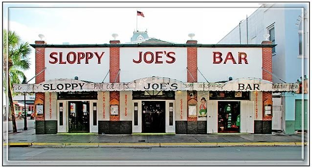 SLOPPY JOE'S FRONT VIEW * 6'' x 11'' 10423