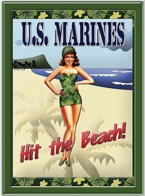MARINES HIT THE BEACH * 7'' x 11''