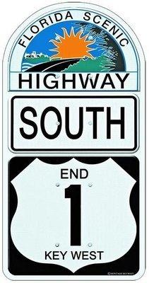 END 1 SOUTH KEY WEST * 6'' x 11''
